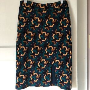 Anthropologie printed knit pencil skirt